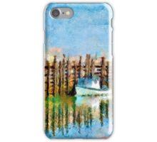 Margaretsville Wharf - watercolour iPhone Case/Skin