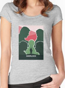 BBC Sherlock Poster Women's Fitted Scoop T-Shirt