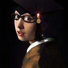 Girl with the Graduation Cap & Glasses by Gravityx9