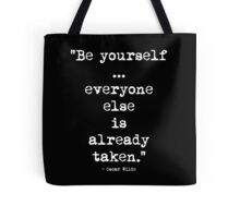 Oscar Wilde Be Yourself White Tote Bag