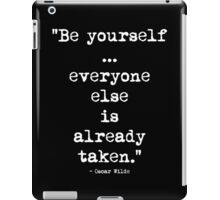 Oscar Wilde Be Yourself White iPad Case/Skin