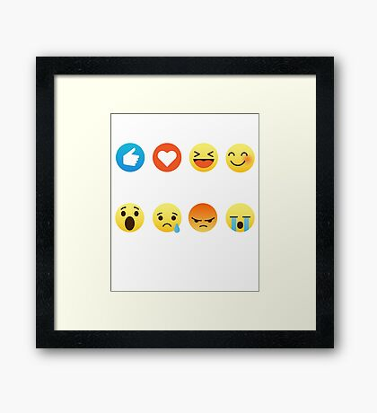 I Love Lacrosse Emoji Emoticon Sports Graphic Tee Shirt Funny Framed Print