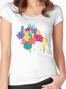 Succulent Eyes Women's Fitted Scoop T-Shirt