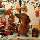 Christmas Dachshund (Version 2) by DebiCady