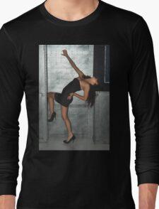 Black Dress Woman Long Sleeve T-Shirt