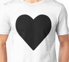 Giant Black Heart Unisex T-Shirt
