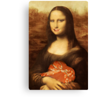 Mona Lisa Loves Valentine Candy Canvas Print