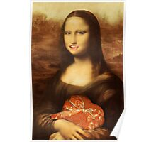 Mona Lisa Loves Valentine Candy Poster