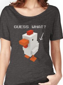 Guess What Chicken Butt Funny Boxel Voxel Style Graphic Tee Sarcastic best Women's Relaxed Fit T-Shirt