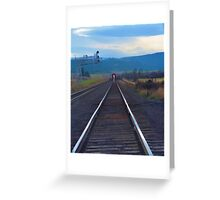 Wrong Side of the Tracks Greeting Card