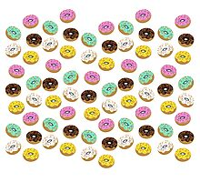 Colory cool donuts icons Photographic Print