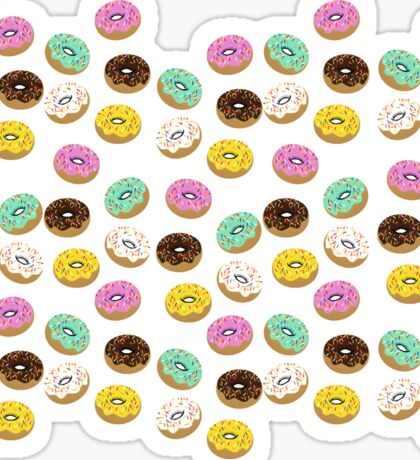 Colory cool donuts icons Sticker