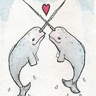 Narwhal Love by Leighanne  Croft
