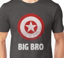 Big Bro Captain America Funny Family Brother Family Graphic Tee Trendy Unisex T-Shirt