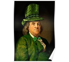 St Patrick's Day for Lucky Ben Franklin   Poster