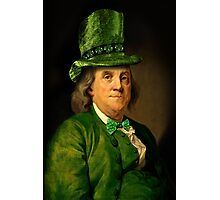 St Patrick's Day for Lucky Ben Franklin   Photographic Print