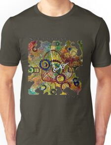 STEAMPUNK HEART TIME FANTASY RETRO CLOCK, STEAMPUNK TIME QUOTE Unisex T-Shirt