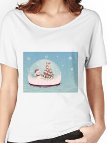 Snow globe with snowman Women's Relaxed Fit T-Shirt