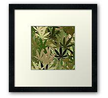 Marijuana Cannabis Weed Pot Camouflage  Framed Print