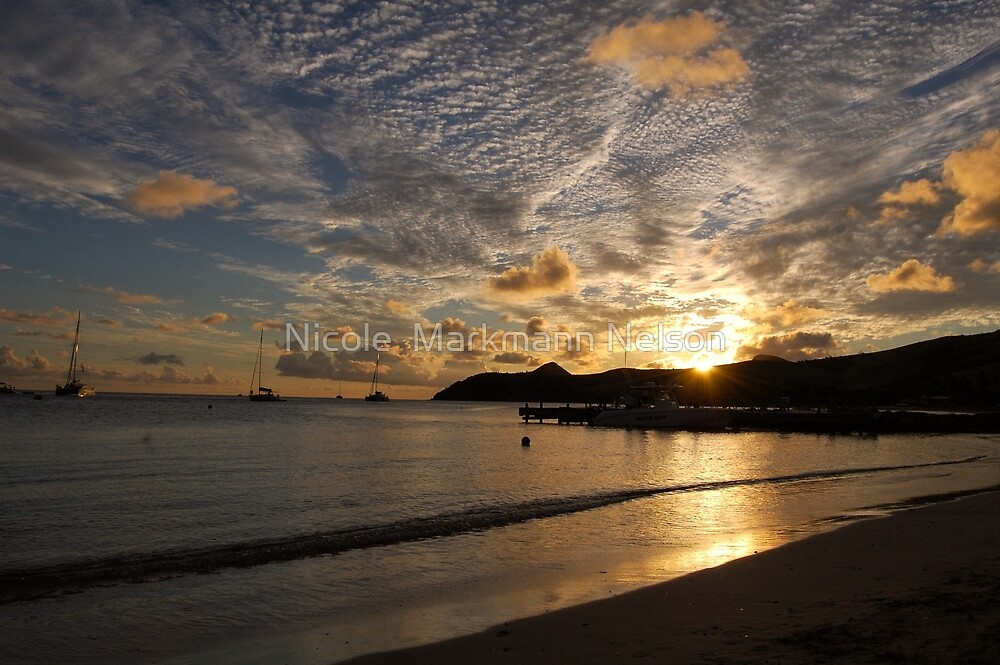 Sunset in St. Kitts by Nicole  Markmann Nelson