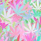 Marijuana Cannabis Weed Pot Spring Colors by MarijuanaTshirt
