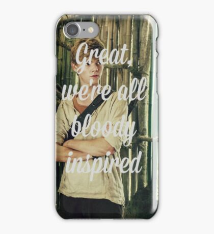 Great, we're all bloody inspired - The Maze Runner iPhone Case/Skin
