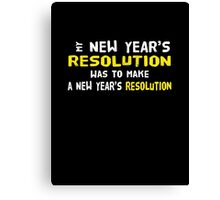 New Year's Resolution Success Canvas Print