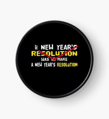 New Year's Resolution Success Clock