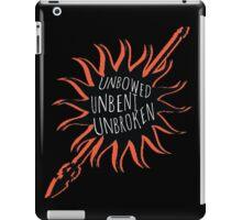 Unbowed, Unbent, Unbroken iPad Case/Skin