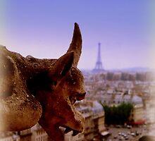Gargoyle in Paris by Charmiene Maxwell-batten