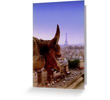 Gargoyle in Paris Greeting Card