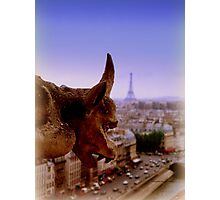 Gargoyle in Paris Photographic Print