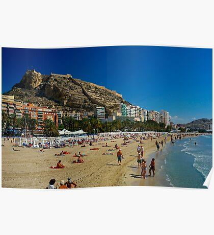 Alicante Beach, Spain Poster