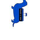 Dachshund Lovers - Tardis Blue 2 by dvampyrelestat