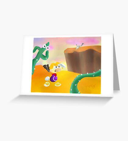 Desert Level Concept Greeting Card