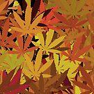 Marijuana Cannabis Weed Pot Autumn Colors by MarijuanaTshirt