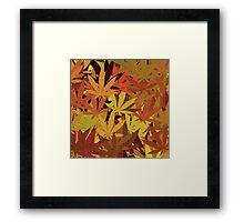 Marijuana Cannabis Weed Pot Autumn Colors Framed Print