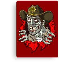 Heeeere's Zombie Rick! Canvas Print