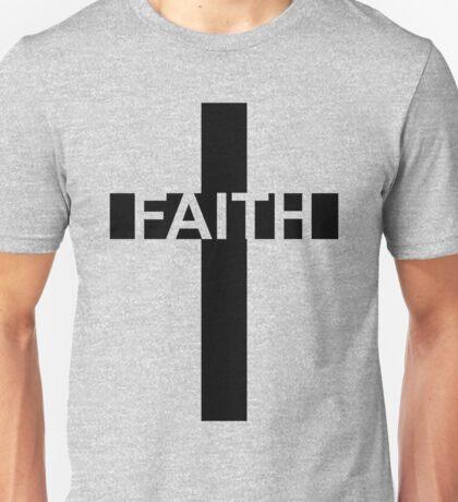 Faith - Word On A Christian Cross Unisex T-Shirt