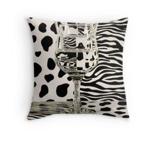 Distortion of Spots and Stripes with Glass Throw Pillow