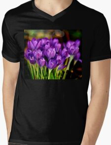 The Crocus Family Mens V-Neck T-Shirt