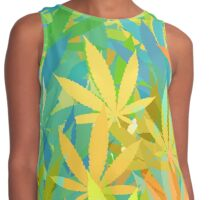 Marijuana Cannabis Weed Pot Summer Colors Contrast Tank