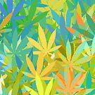 Marijuana Cannabis Weed Pot Summer Colors by MarijuanaTshirt