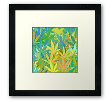 Marijuana Cannabis Weed Pot Summer Colors Framed Print