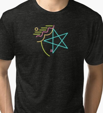 1990s Abstract Design Tri-blend T-Shirt