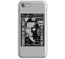 Spn Lucifer :) iPhone Case/Skin