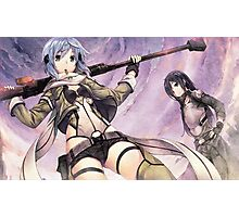 Sword Art Online Sinon - Kirito Poster, Cover Photographic Print