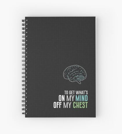 To Get What's On My Mind Off My Chest - Carrie Fisher Memorial Journal Spiral Notebook