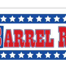 Rodeo Cowgirl - Barrel Racing (Red, White & Blue) Sticker
