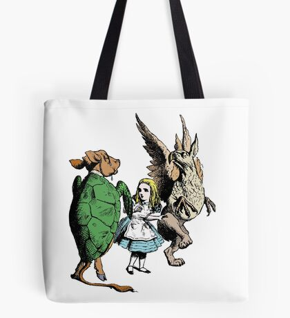 Alice and the Mock Turtle Tote Bag
